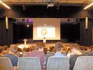 Isabelle Drouet conference ados élèves étudiands lycée
